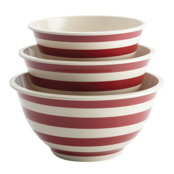 Paula Deen Pantryware Melamine Mixing Bowl Set, 3Pc