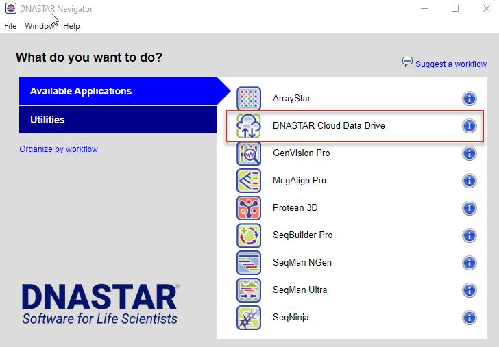 DNASTAR Navigator Cloud Data Drive