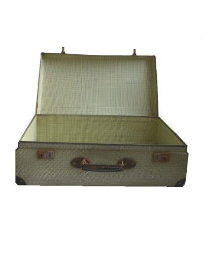 Lichtgroene koffer voorzijde open