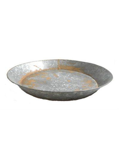 Metalen schaal zijkant