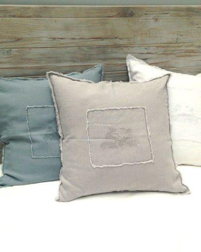 kussensloop-linnen-grijs blauw en wit