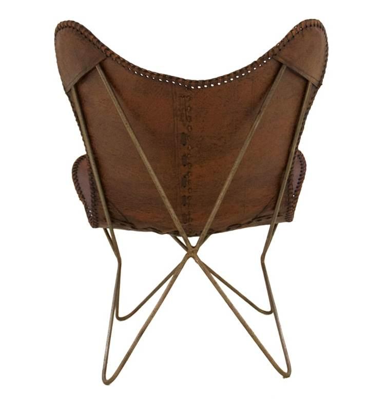 Vlinderstoel bruin achterkant