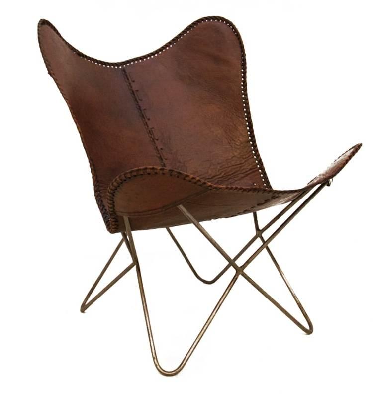 Vlinderstoel bruin 1