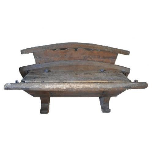 Antikes Kutscher Bänkchen Vorderseite