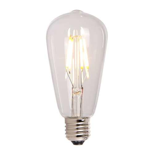 LED Lampe in Tropfenform 4 Watt klar an
