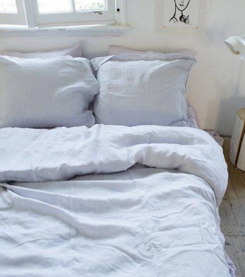 Leinen Stonewashed Bettbezug Maxime Jeans Blue