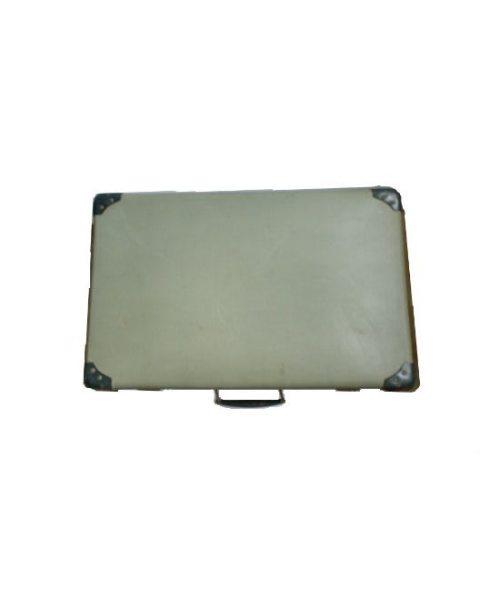 Vintage Koffer dunkelgrün oben