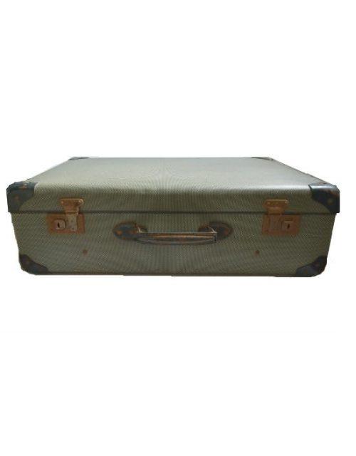 Vintage koffer donkergroen vintage