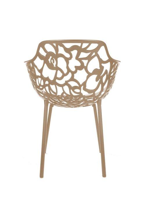 Cast Magnolia arm chair RAL1011-Brown-beige
