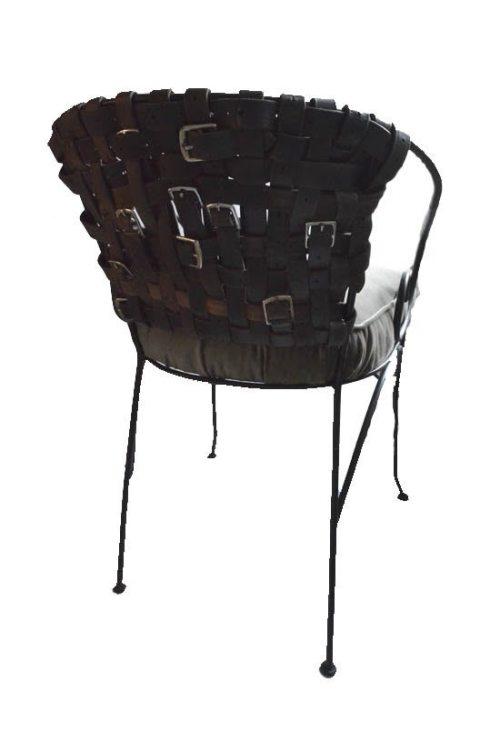 Riemenstuhl Rückseite