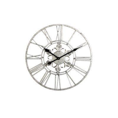 Wandklok-Novara-40-cm-zilver