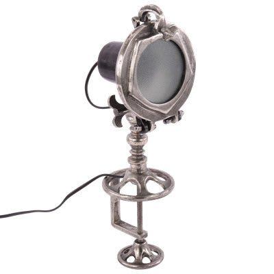 tafellamp industrieel Sesto-zwart-met-ruw-nikkel