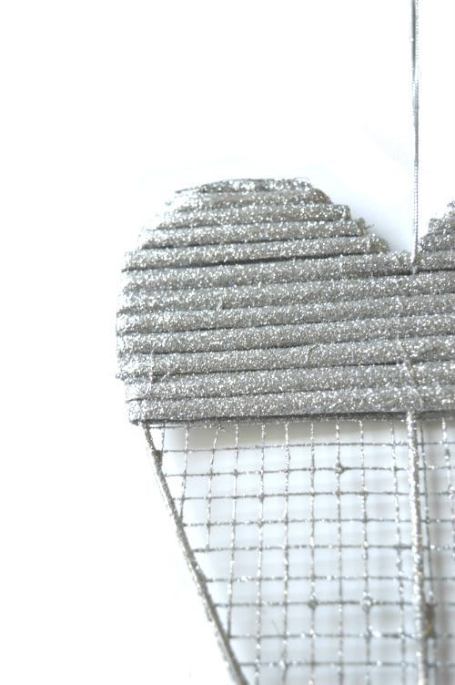 Hart zilver gaas detail