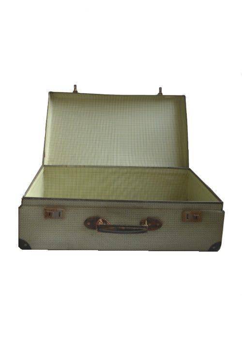 Koffer Vintage hellgrün vorne offen