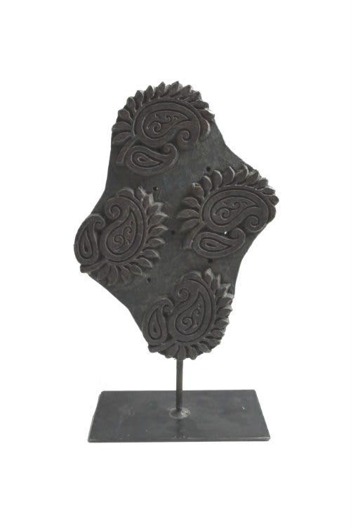Stempel auf Sockel oval