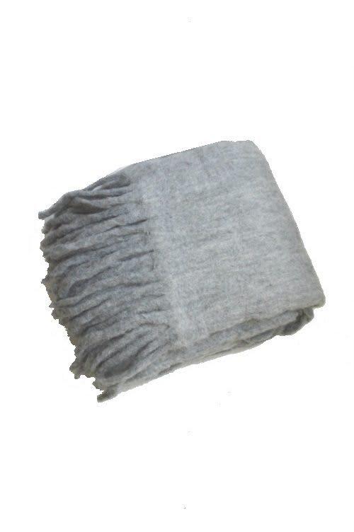 Plaid Wolle grau
