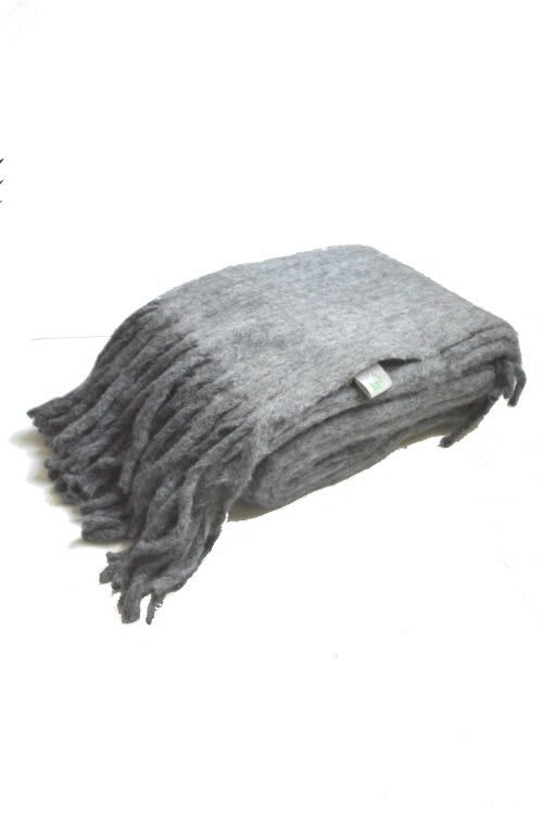 Plaid anthrazit Wolle