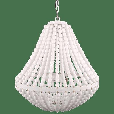 Kronleuchter aus Perlen Casimira 60 cm weiß