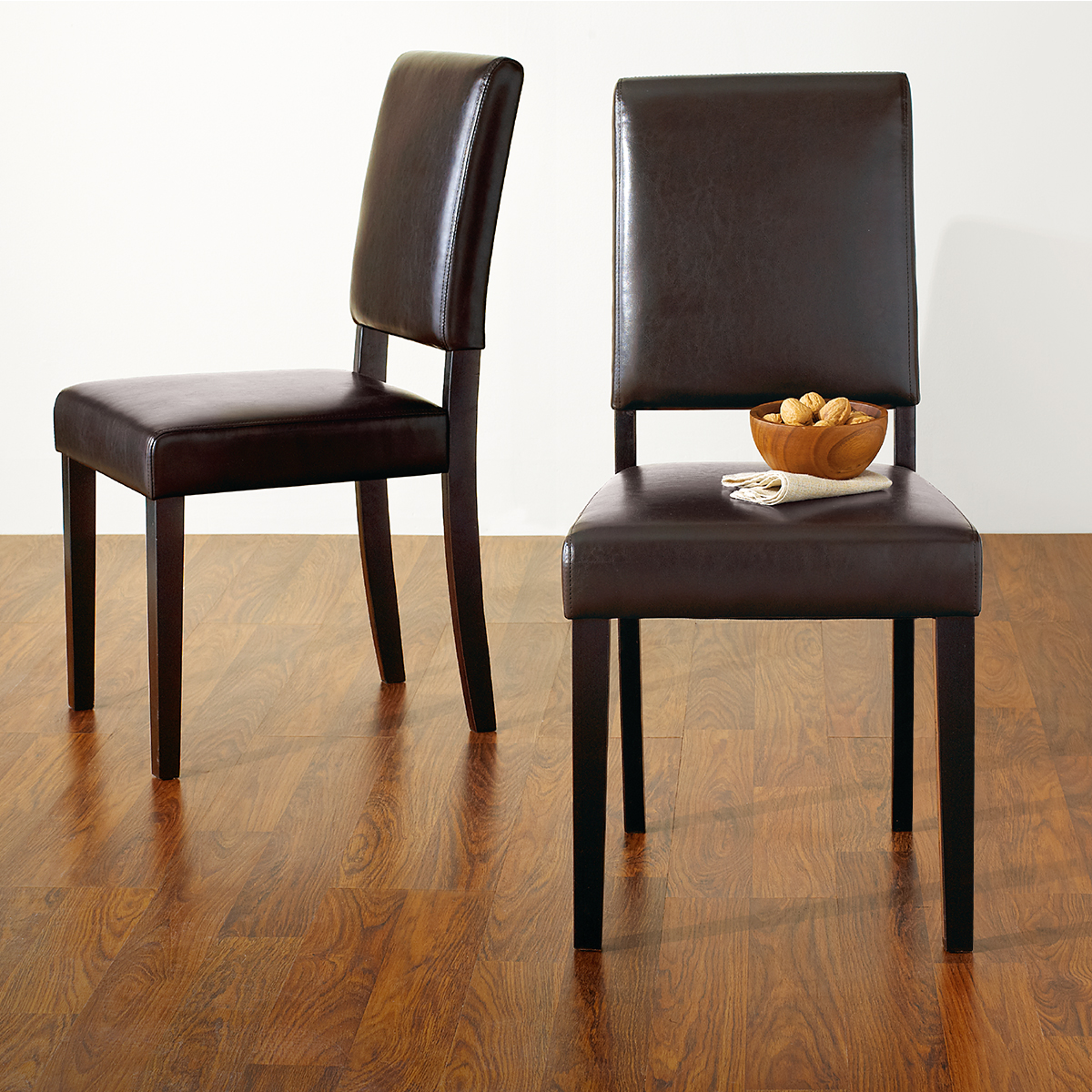 Details About Mid Century Modern Dining Chair Faux Leather Parson Chairs Set Of 2