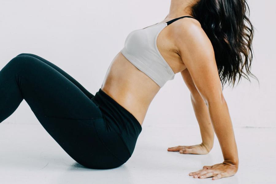Woman wearing workout gear