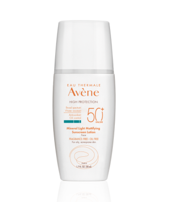 Eau Thermale Avene® Mineral Light Mattifying SPF 50 Plus Sunscreen Lotion | Spotlyte