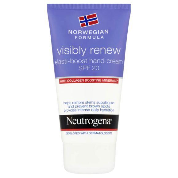 Neutrogena® Norwegian Formula Visibly Renew Elasti-Boost Hand Cream SPF 20 | Spotlyte