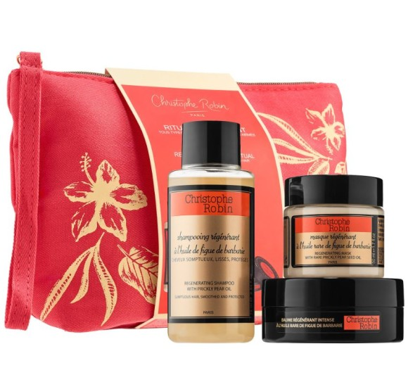 Find Christophe Robin Regenerating Hair Ritual Travel Kit | Spotlyte