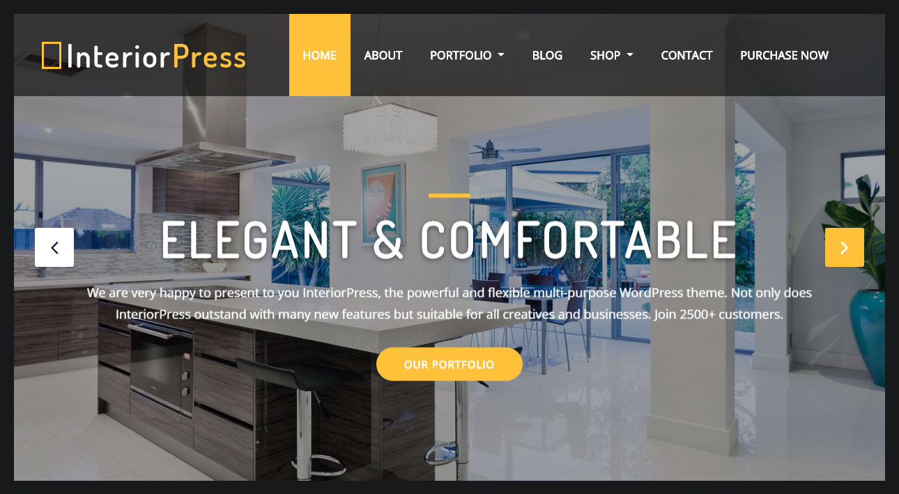 Beautiful Homepage Business Sections