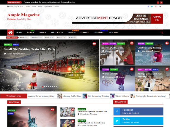 Ample Magazine WordPress Theme