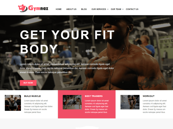 Gymnaz : Gym WordPress Theme