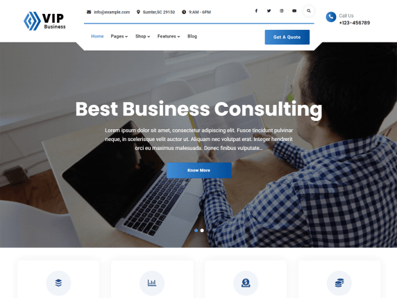 VIP Business WordPress Theme