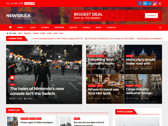 Newsbulk Free WordPress Theme download