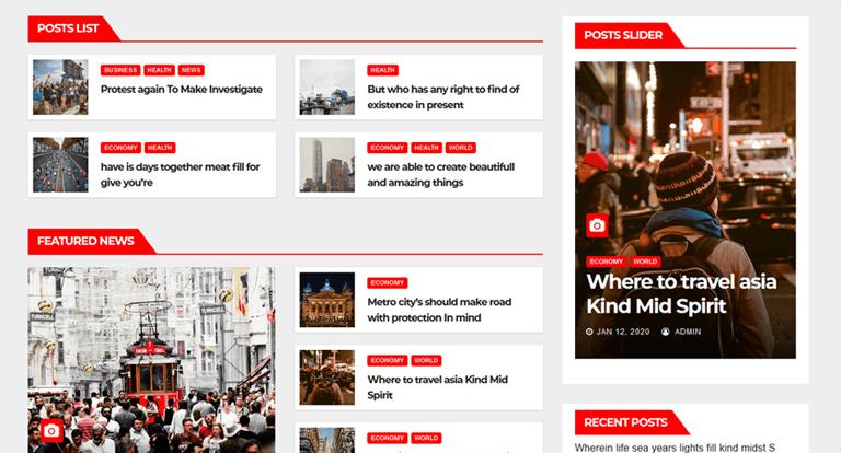 Newsbulk News Magazine WordPress Theme