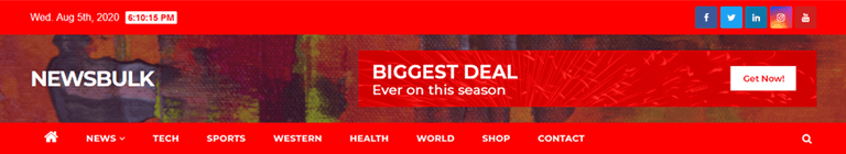 Newsbulk News Magazine WordPress Theme Free Download