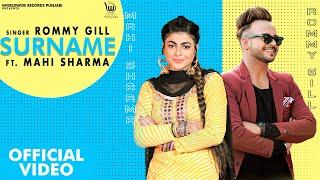 Surname – Rommy Gill Ft Mahi Sharma Video HD