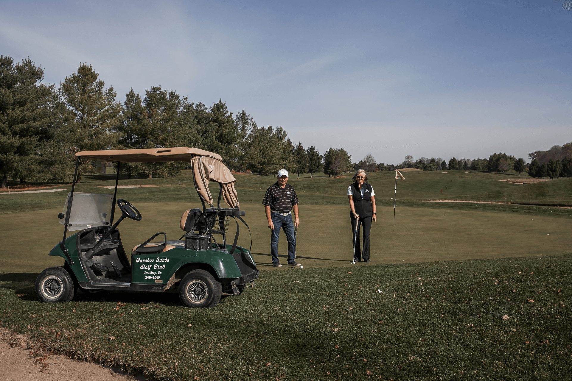 owners on golf course