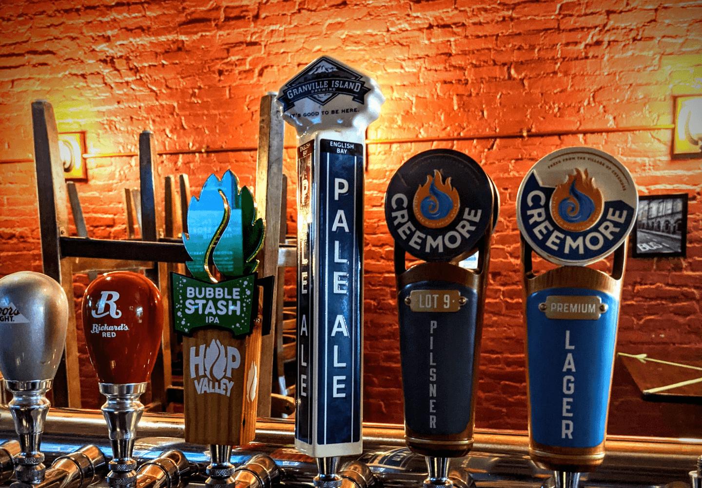 draft beverage taps