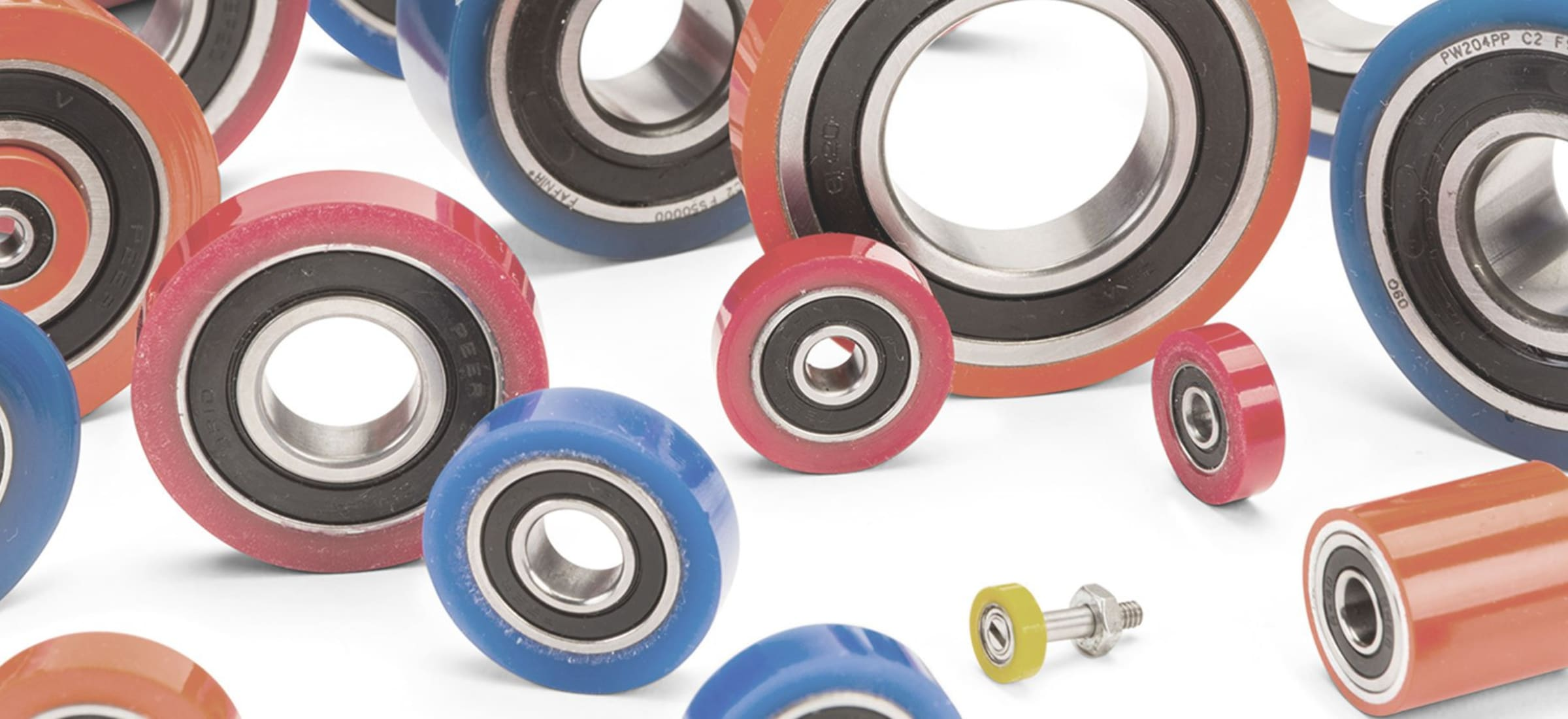 red blue and orange gear parts