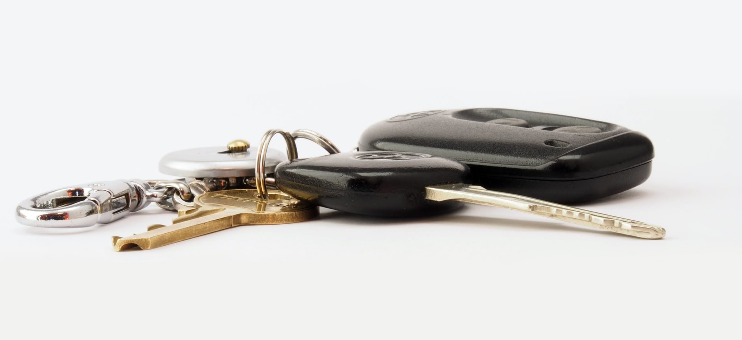 car keys laying on table
