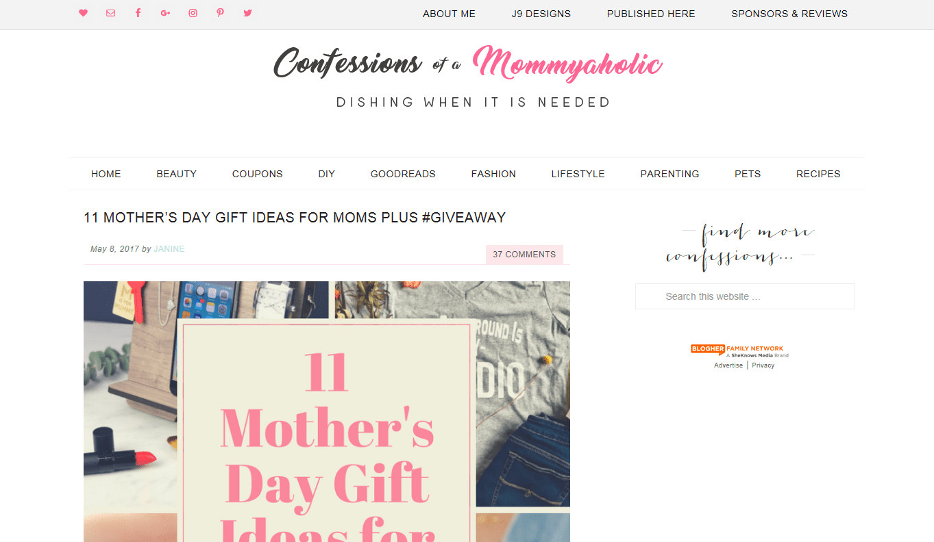 Confessions Of A Mommyaholic
