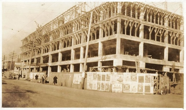 Construction of the Broadview Hotel, East St. Louis, 1925