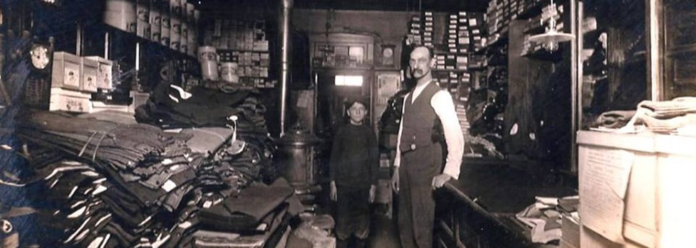 Tegtmeier Bros. Tailor Shop, Millstadt, c. 1900