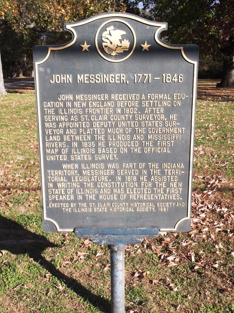 historical marker, placed in 1981 by the State of Illinois