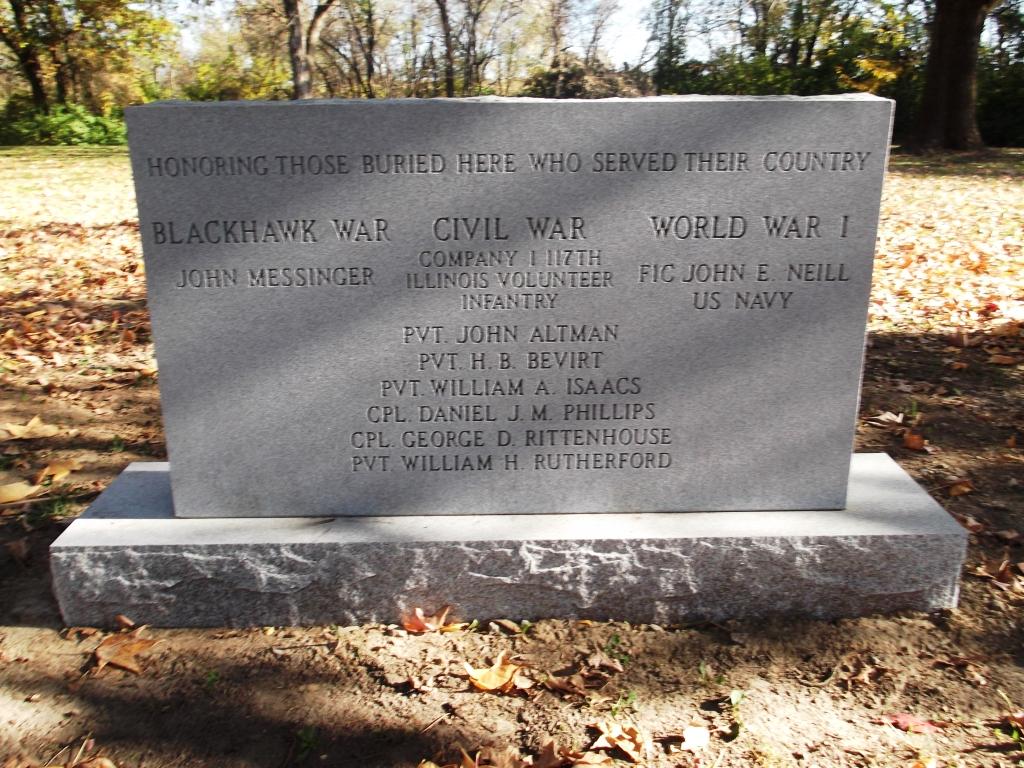 Veteran's Monument at Messinger Cemetery