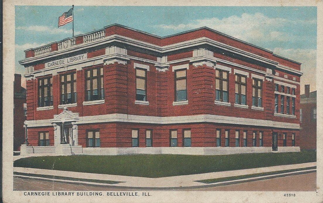 Postcard, Belleville Public Library, 1916