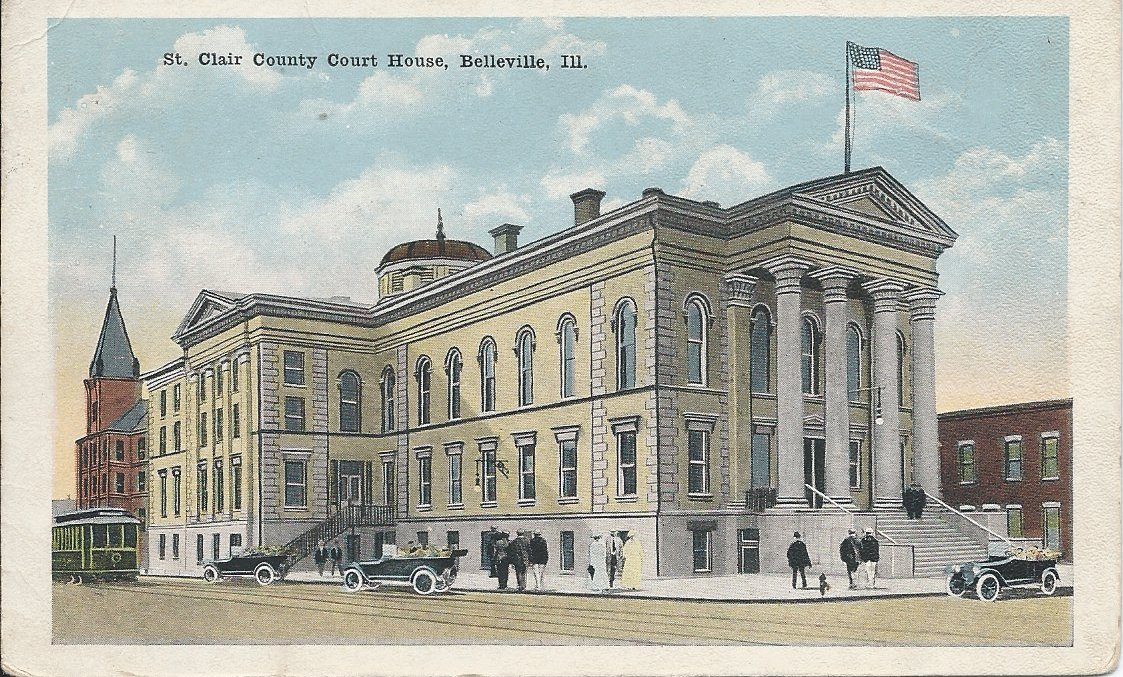 Postcard, St. Clair County Courthouse, 1910