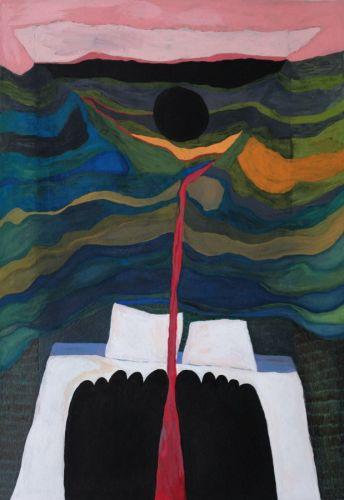 peinture gouache sang lune chloe rolland pieds