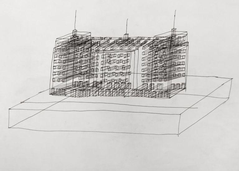 Monument (2). Encre sur papier. 2013
