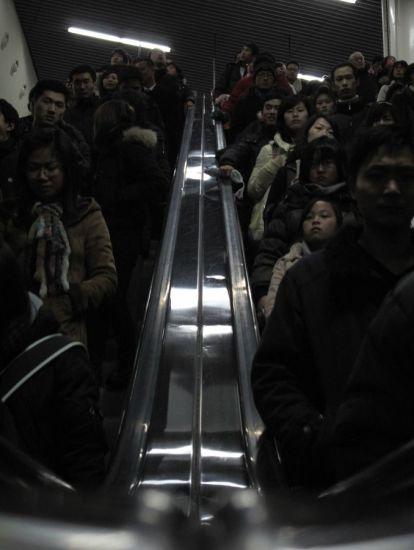 Les gardiens de l'air. Shanghai, Chine. 2010