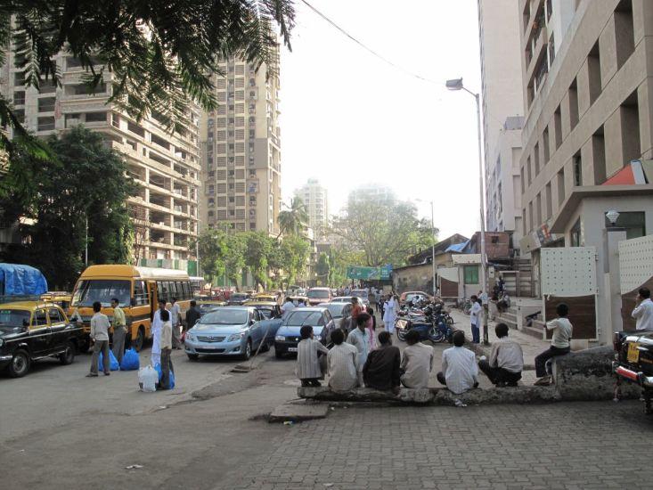 En dehors du banc. Bombay, Inde. 2009